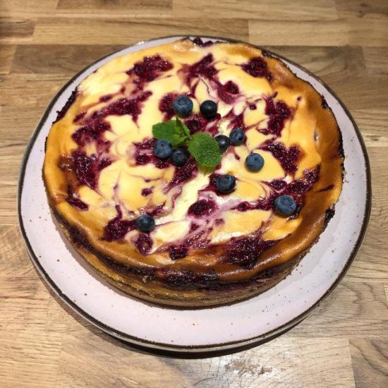 White Chocolate Raspberry Swirl Cheesecake Milk and Cookies Venlo